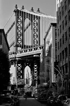 New York Photography Brooklyn Bridge by UnAirDeParisByAlbane