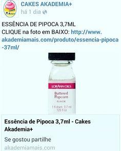ESSÊNCIA DE PIPOCA 3,7ML CLIQUE na foto em BAIXO: http://www.akademiamais.com/produto/essencia-pipoca-37ml/