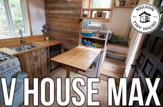 Nelson Tiny Houses V House MAX Tour - I would take out the loft and make the bedroom larger without the stairs and add a closet.
