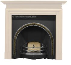 Kensington Cast Iron Fireplace Insert (Highlight) Georgian design circa 1840 BRASS HIGHLIGHT finish Suitable for gas or sollid fuel option Flue type class 1 & 2 FREE delivery Online Sale Price: Cast Iron Fireplace Insert, Fireplace Inserts, Georgian, Free Delivery, Highlight, Brass, Living Room, Type, Design