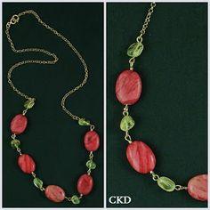 Colar com citrinos e jaspe vão colorir seu look!! www.ckdsemijoias.com.br
