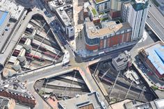 An aerial photograph of Birmingham New Street Railway Station Birmingham News, West Midlands, Aerial Photography, City Photo, Times Square, Commercial, Street, Travel, Viajes