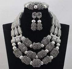 ADD25 African Nigerian Wedding Necklace Set