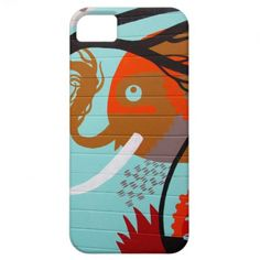 Abstract Art Elephant and Tree iPhone 5 Cover