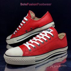 Converse Mens All Star Leather Trainers Red sz 9.5 Croc Sneakers US 11.5 EU 43 | eBay