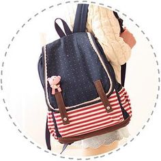 Buy 'Canvas Love – Striped Canvas Backpack' with Free International Shipping at YesStyle.com. Browse and shop for thousands of Asian fashion items from China and more!