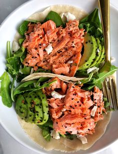 Oven-Broiled Wild Salmon Tacos (gluten-free, dairy-free)