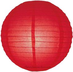 """12"""" Red Even Ribbing Round Paper Lantern - need to order these for tree decorations!"""