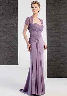 Attractive Purple Sweetheart Beading Ruched Sweep Length Satin Mother of Groom Dresses ,Mother of Bride Dresses,