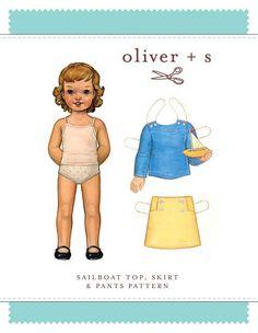 Sailboat Top, Skirt & Pants - PDF Pattern - Oliver+S - $13.95 : Whimsical Designs