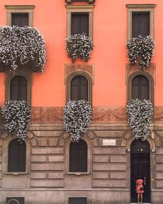 Pretty wall in Milan, Italy