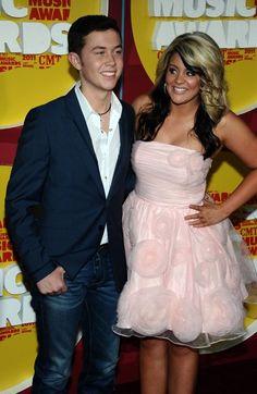 American Idol winner Scotty McCreery and runner-up Lauren Alaina arrive at the 2011 CMT Music Awards in Nashville, Tenn. on Wednesday, June 8, 2011.