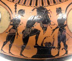 Herakles bringt den Eber von Erymanthos zu Eurystheus (Louvre) http://www.wissenswuerze.de/wordpress/kunstwerk-der-woche-46-4/