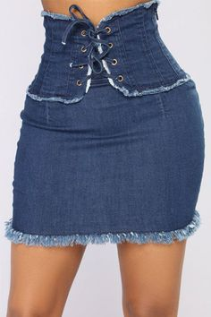 3a2c0ab26328 LULUSLIKE ROASOCASUAL WAISTED DENIM MINI SKIRTS Diy Clothes, Cheap Clothes,  Denim Mini Skirt,