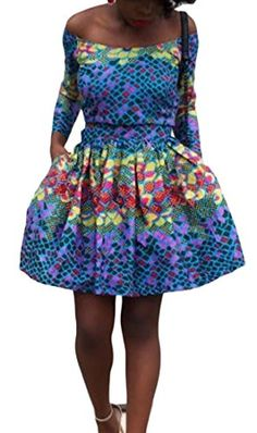 Swing Dress, Africa, Summer Dresses, Amazon, Shoulder, Long Sleeve, Party, Sleeves, Stuff To Buy