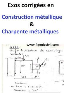 Exercices Corrigees En Construction Metallique Et Charpente Metalliques Charpente Metallique Charpente Construction Metallique