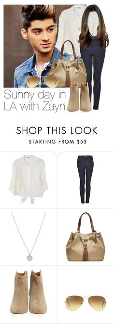 """""""Sunny day in LA with Zayn"""" by style-with-one-direction ❤ liked on Polyvore featuring Miss Selfridge, Topshop, Dogeared, Michael Kors, Isabel Marant, Ray-Ban, OneDirection, 1d, zaynmalik and zayn malik one direction 1d"""