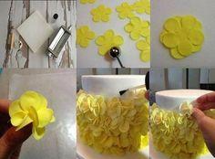 petal ruffle cake tutorial by Bloom Cake Design