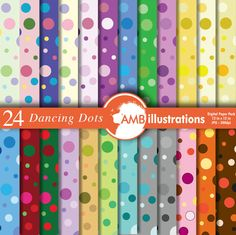 80%OFF Polka dot digital paper polka dot scrapbook papers digital backgrounds instant download commercial use AMB-418