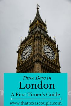 First time to London?  Let us show you how to get the most out of your time, but still be able to relax and enjoy the city.  via @That Texas Couple