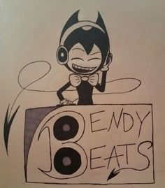 "Bendy and the Ink Machine: Bendy Beats [fanart of one of DAGame's Bendy-s in his fansong, ""Build Our Machine.""]"
