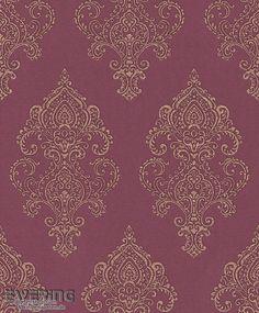 23-225845 Amira Rasch Textil Wein-Rot Vliestapete Ornament