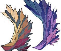 Der Phoenix-Flügel ist ein Schultertuch, das in einem Stück gestrickt wird. Die…