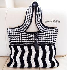 Moiré Shoulder Bag, free crochet pattern with crochet-a-long January 15-21, 2016
