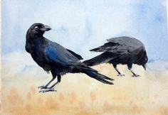 Crows - Watercolour