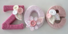 Yarn Wrapped Letters for Baby's Room - Repeat Crafter Me Yarn Wrapped Letters, Yarn Letters, Cardboard Letters, Diy Letters, Wooden Letters, Flower Letters, Name Decorations, Diy For Kids, Crafts For Kids