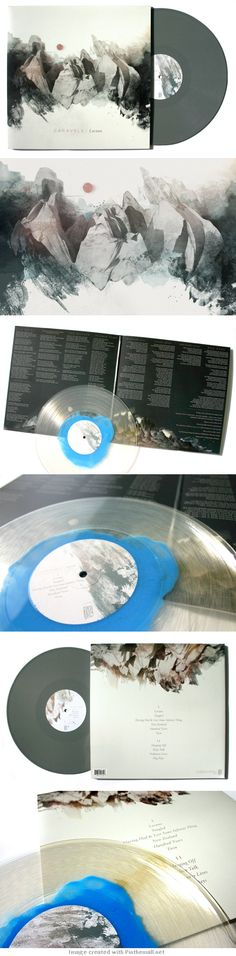 Beautiful album art and awesome vinyl.  Caravels - Lacuna | Music Packaging by Charlie Wagers