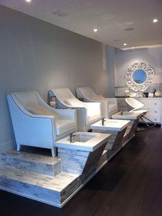 The white room spa Toronto Ontario pedicure station.....ideas for my own at home spa hmmm :) Nail Design, Nail Art, Nail Salon, Irvine, Newport Beach