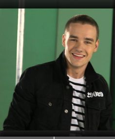 liam payne on the set for kiss you