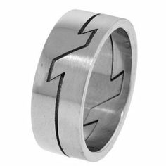 Lightning Bolt Men's Stainless Steel Puzzle Ring - Size 13 FreshTrends. $4.00. Save 87%!