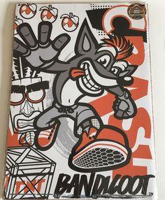 Crash Bandicoot Art Print UK Exclusive Activision New Crash Bandicoot, Harry Potter Art, Game Art, Bullet Journal, Art Prints, History, Games, Tattoos, Crafts