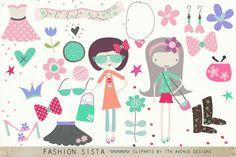 Fashion Sista Cliparts from DesignBundles.net