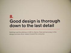 8. Dieter Rams: Principles for Good Design