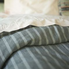 Oxford Stripe Duvet Cover   New Bed + Bath   NEW #chasingthelight