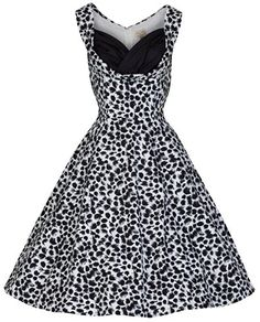 Lindy Bop 'Ophelia' New Chic Vintage 1950's Monochrome Party Swing/Jive Dress (L, Monochrome)