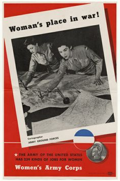 While the war increased employment options for women, opportunities were not equal. Women were only allowed to work in certain capacities, such as detailing maps as shown in this poster, and were not granted permanent status during the war. National Archives, Records of the Office of Government Reports