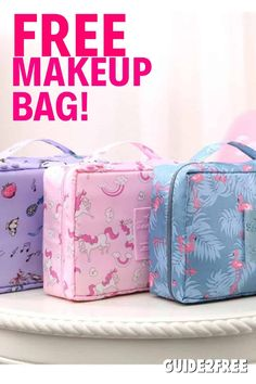 Free Beauty Box, Free Beauty Samples, Free Samples By Mail, Free Makeup Samples, Free Cosmetic Samples, Free Stuff By Mail, Get Free Stuff, Makeup Kit, Makeup Bags