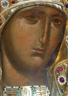 While singing in honour of Your Son, O Mother of God, we all praise you as a living temple; Byzantine Icons, Byzantine Art, Religious Icons, Religious Art, Face Icon, Feminine Mystique, Best Icons, Holy Mary, Orthodox Icons