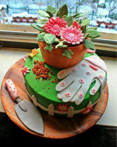 Gardening, gardener cake, dessert, special occasion