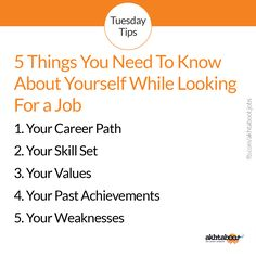 5 Things You Need To Know About Yourself While Looking For a Job!