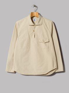 Arpenteur Roscoff Popover Shirt (Sand Cotton Serge)