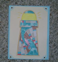 Lighthouse Iris-Folded Card by FoldsWithLoveByHolly on Etsy, $4.00