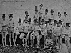 Imagem: Britânicos no clube, em Brighton. 1860.