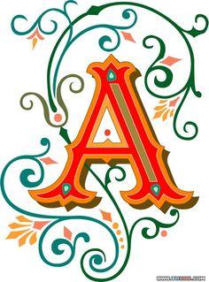 Tuscan font vector