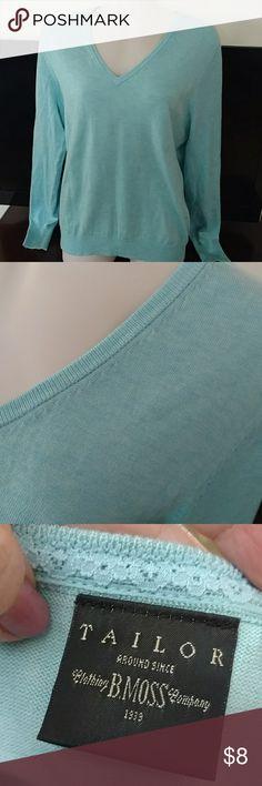 Nwot Tailor sz medium top Lightweight knit top in seafoam. Never worn. Sz medium b. moss Tops