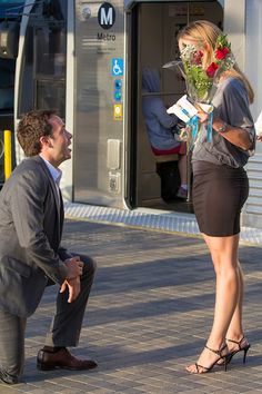 Very Romantic Train Station Proposal Idea  www.diamonds.pro